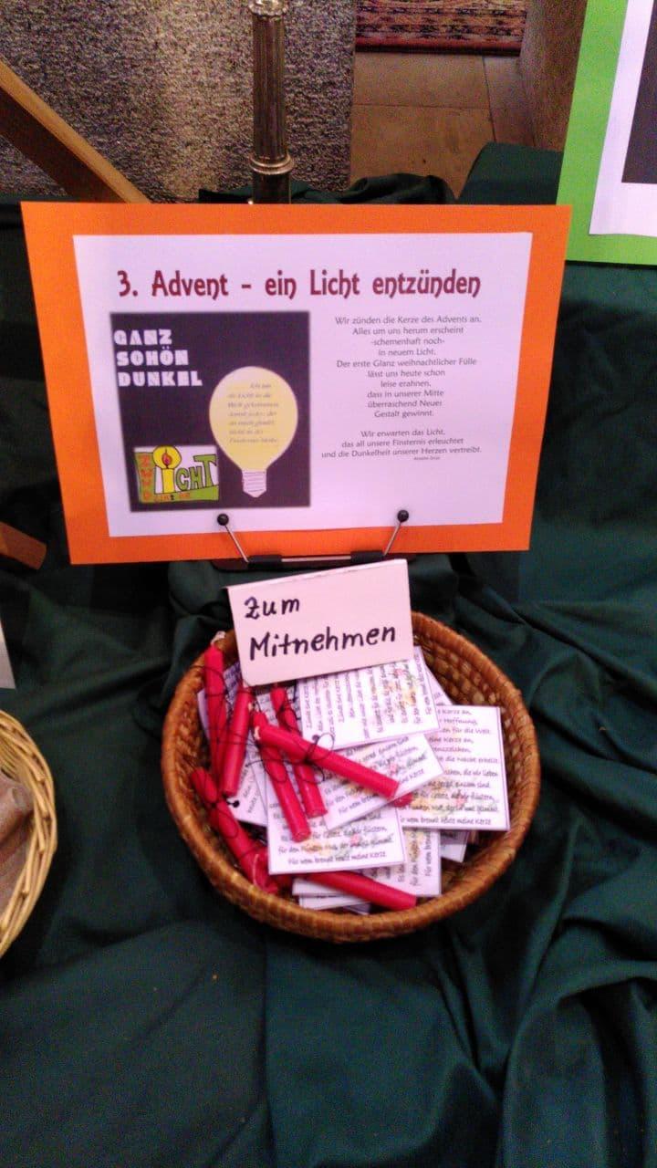 3. Advent - ein Licht entzünden