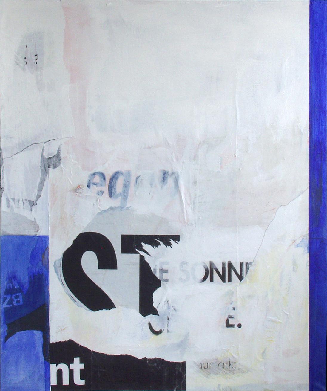 Sonne, Eis und Regen, Mischtechnik auf Leinwand, 120x140cm