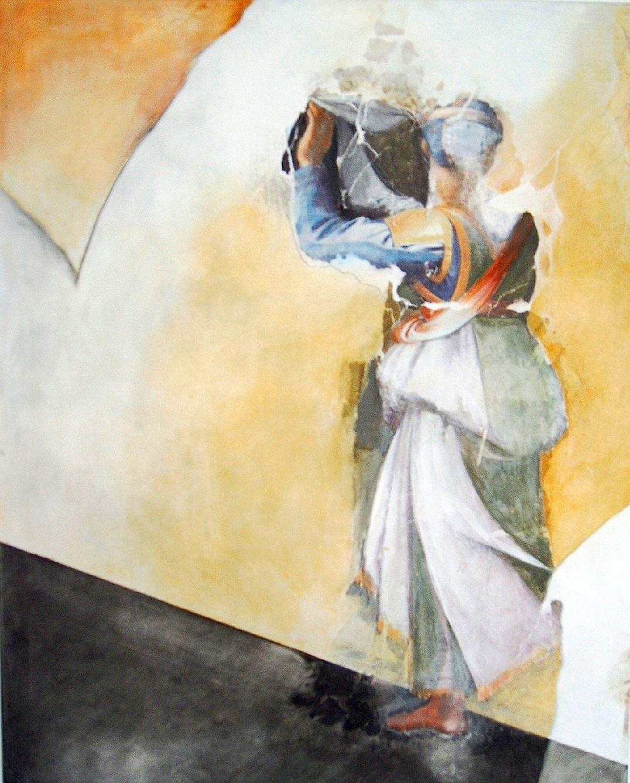 Judith, Mischtechnik auf Leinwand, 80 x 100 cm