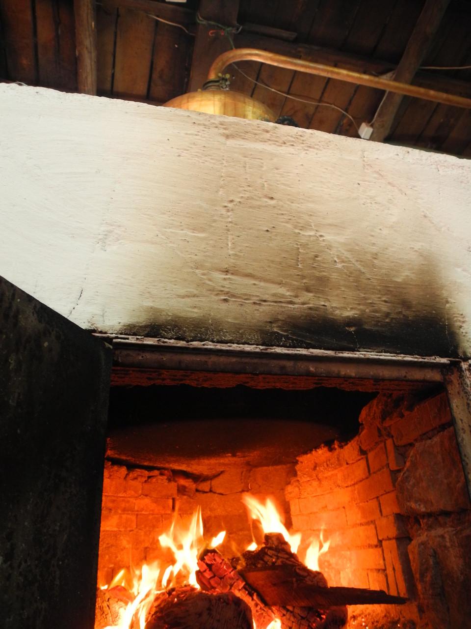 Blick auf die Unterseite des Brennkessels