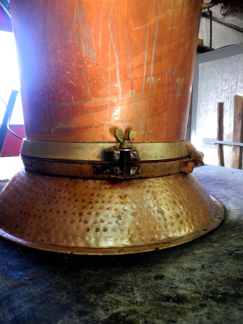 Kupferkessel, von den Kesselmachern hergestellt, die auch heute noch einmal im Jahr ins Dorf kommen