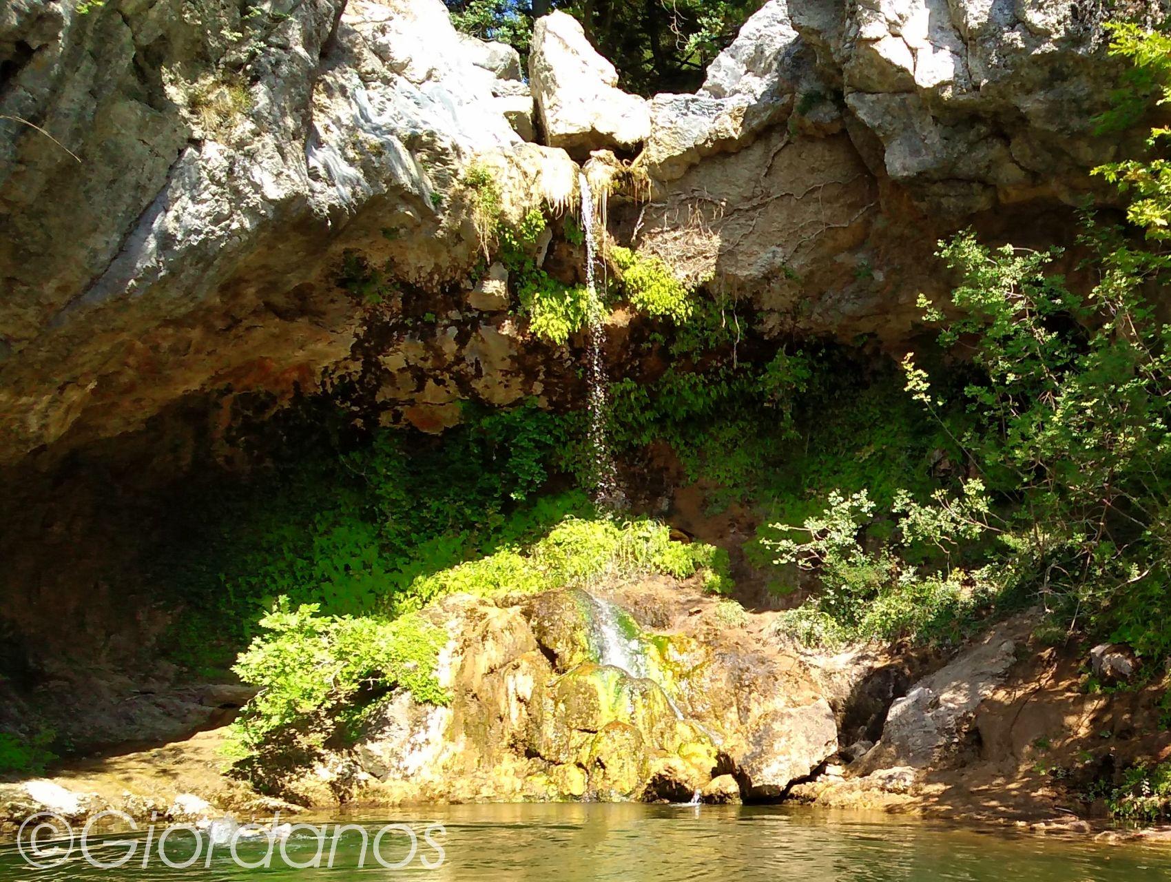 Drimonas Evia Griechenland-Wasserfall 1