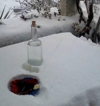 """Und wenn´s dann so richtig kalt wird......dann erinnern wir uns einfach an die kuschelige Wärme in der """"Tsipouro Brennerei"""""""