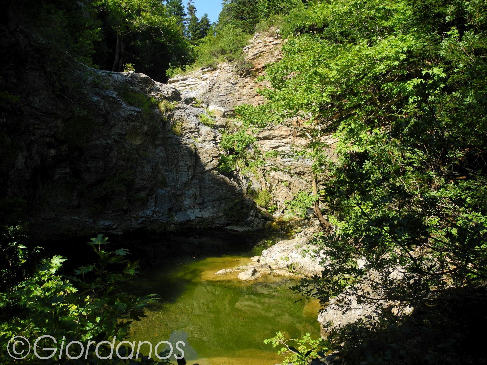 Drimonas Evia Griechenland-Wasserfall 2