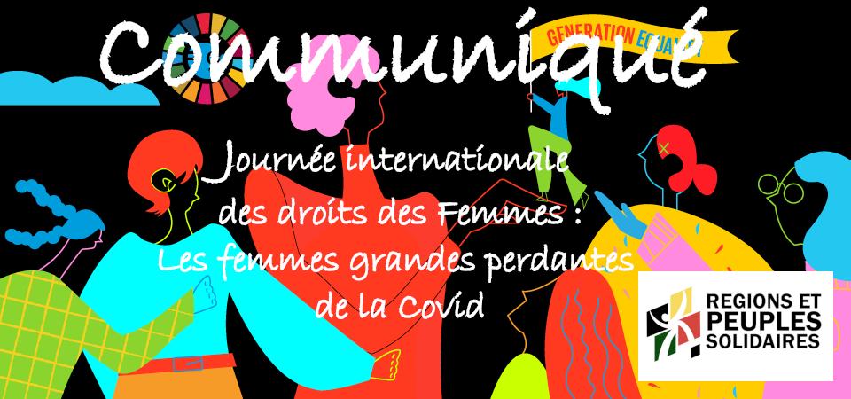 Journée internationale des droits des Femmes :  Les femmes grandes perdantes de la Covid