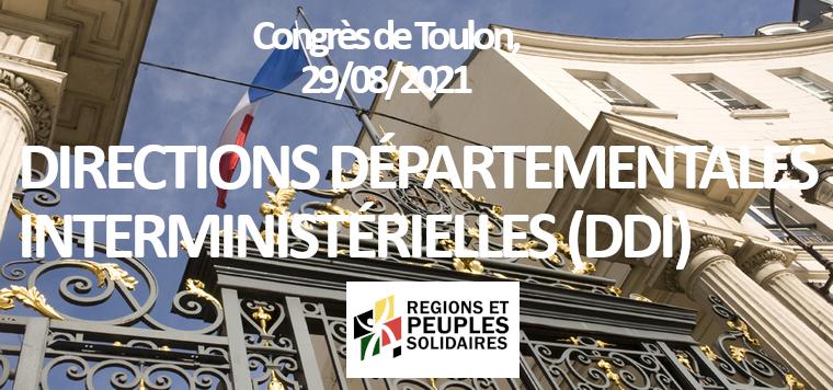 Directions Départementales Interministérielles (DDI)
