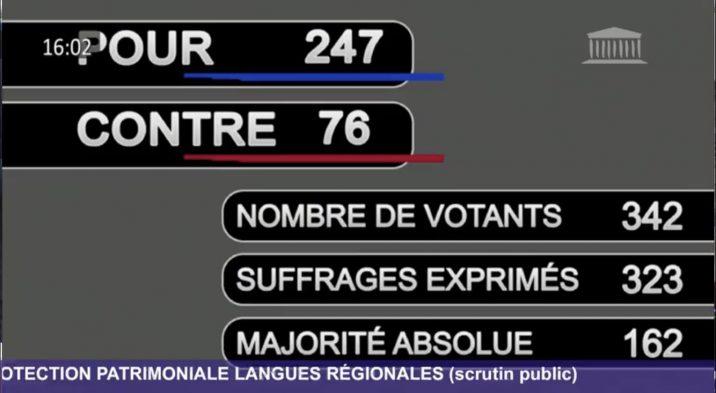 LANGUES RÉGIONALES : AVANCÉE HISTORIQUE !