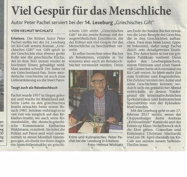 Aus Aachener Zeitung Dezember 2016