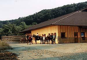 Stallanlage im Jahr 1995
