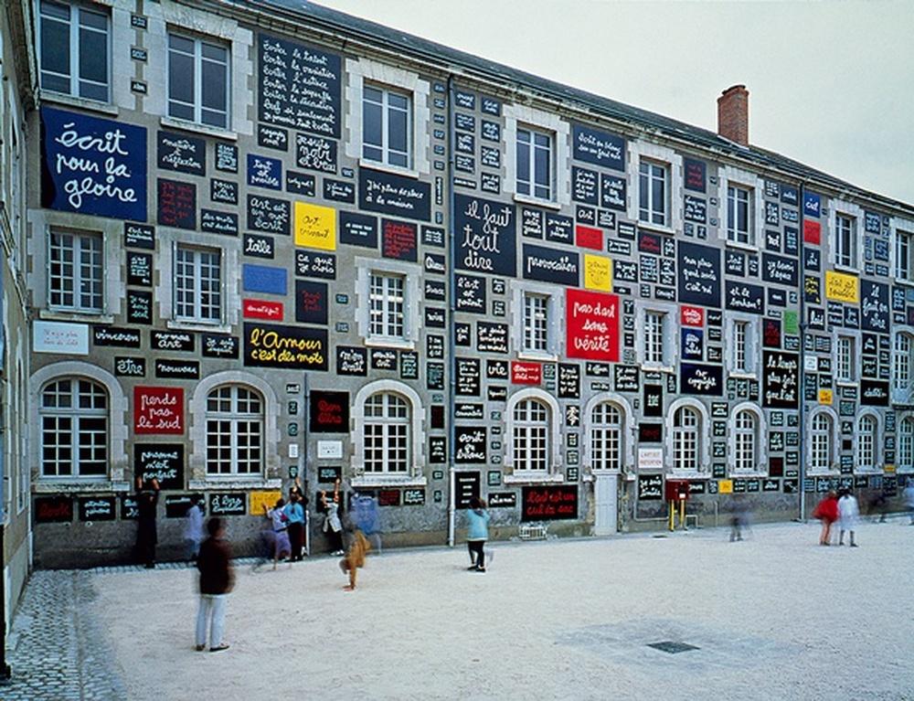 peinture murale / Ben, Blois, 1995