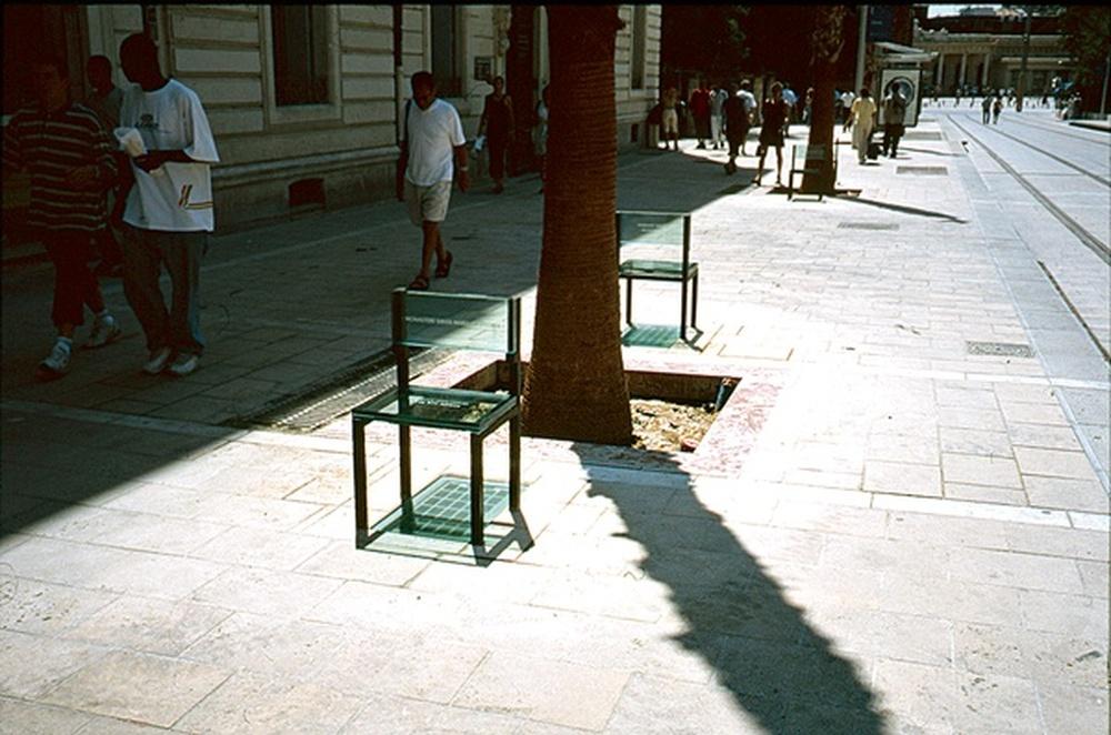 mobilier urbain / Sarkis, Montpellier, 2000