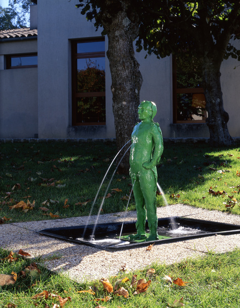 fontaine / L'homme de Bessines, Fabrice Hyber, Bessines, 1991