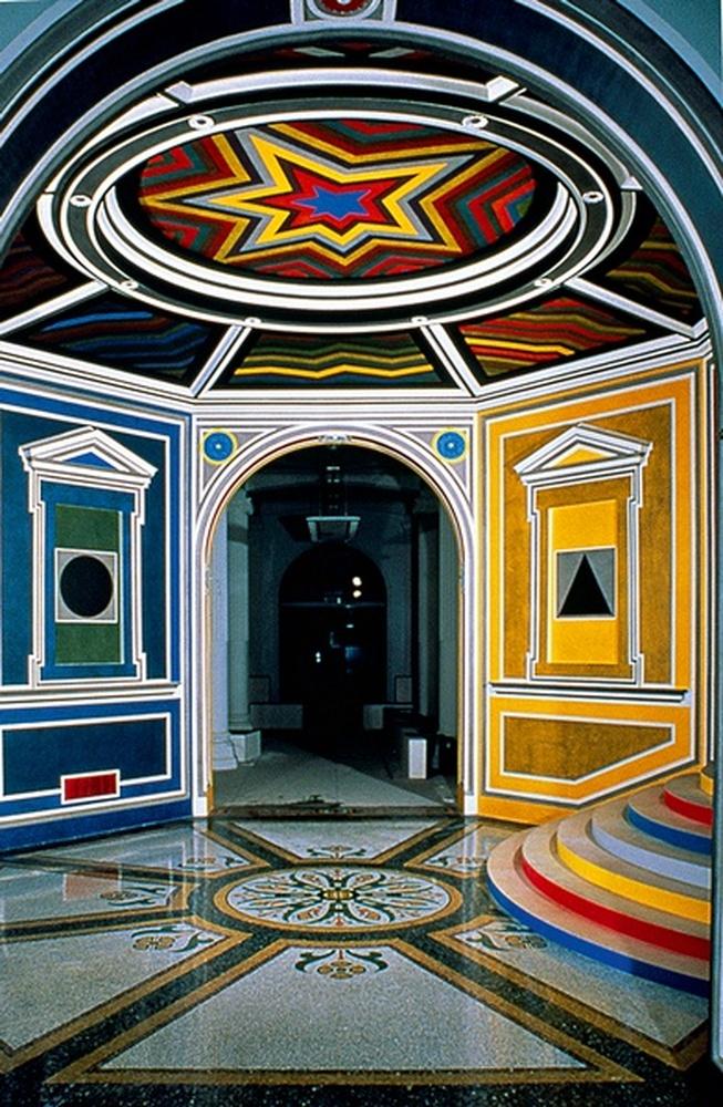 peinture murale / Sol Lewitt, Amiens, 1992