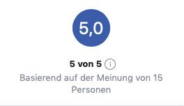 Facebook-Bewertungen (Stand: 12.08.18)