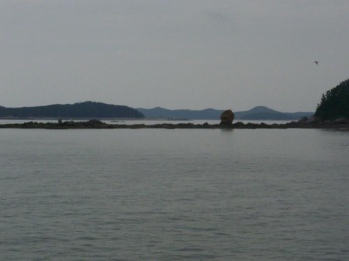 Insel Godae-do, Landeplatz von Gützlaff