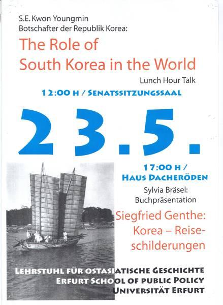 Genthe Plakat - Illustration Publikationsliste Dr. S. Bräsel Illustration zur Publikationsliste Dr. S. Bräsel