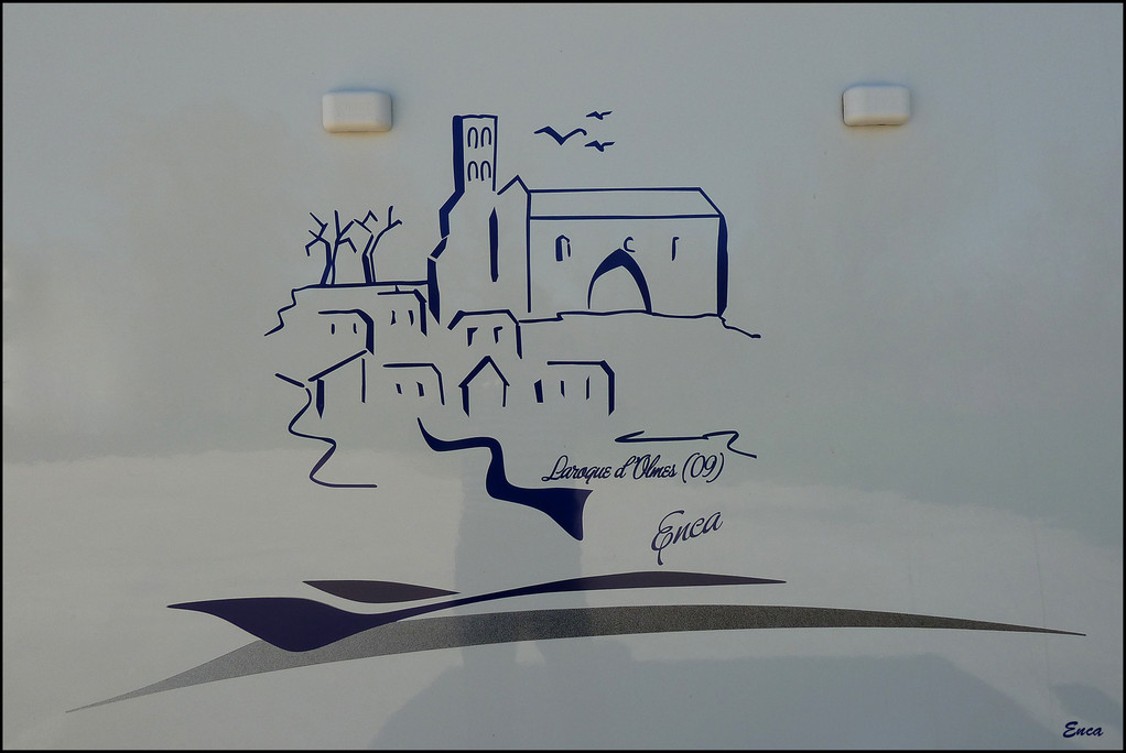 "Le Village de LAROQUE D'OLMES croquis"" ENCA"""