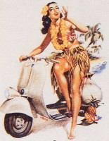 Pin-Up Vespa