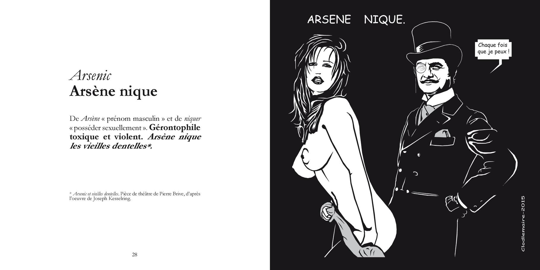 Arsenic - Arsène nique / P 28-29 du Bestof2 -Texte Edith - Dessin Clodlemaire. Droits réservés - Reproduction interdite