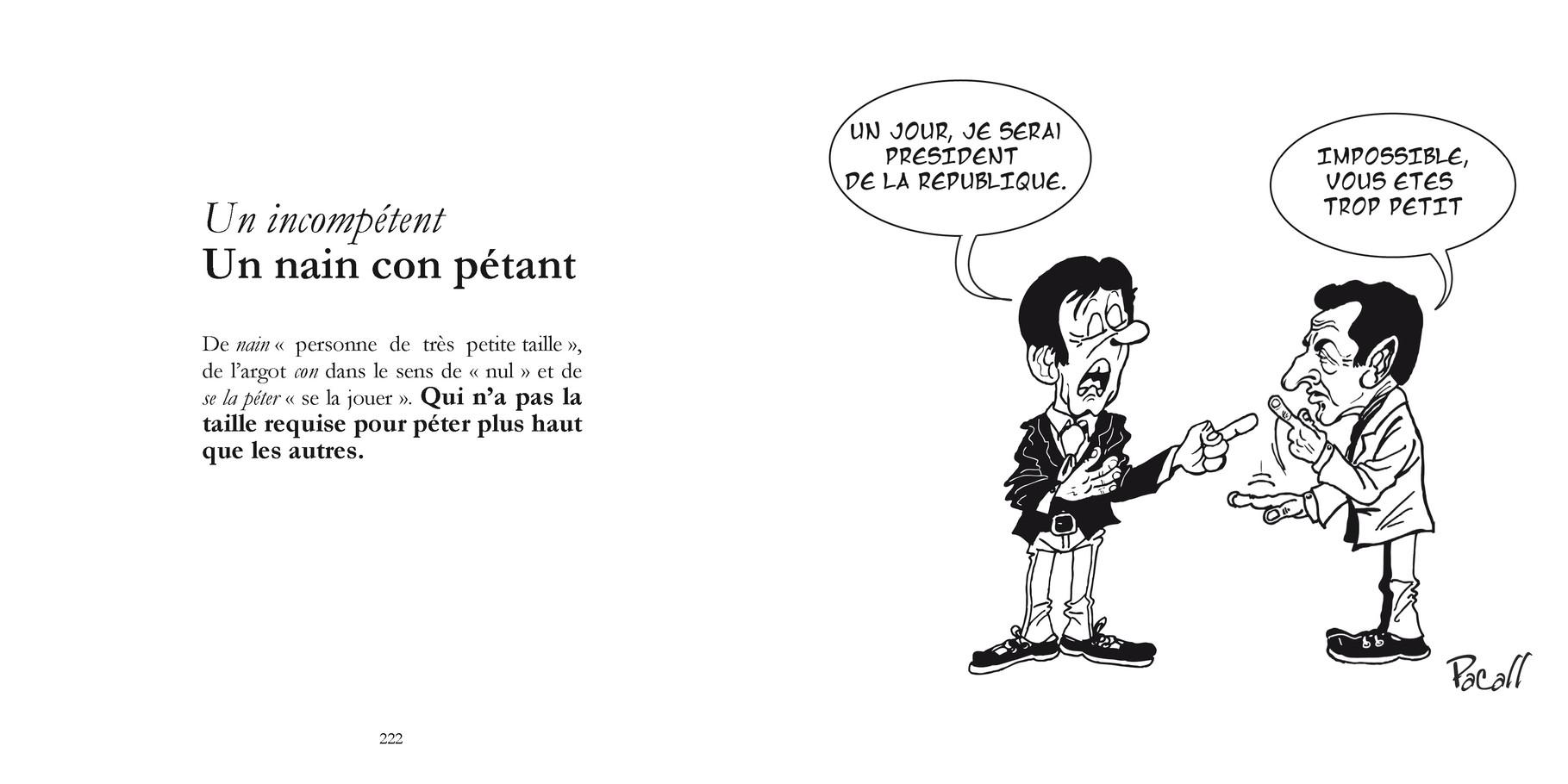Un incompétent - Un nain con pétant /  P222-223 du Bestof 1 / Texte Edith - Dessin Pacall   Droits réservés   Reproduction interdite