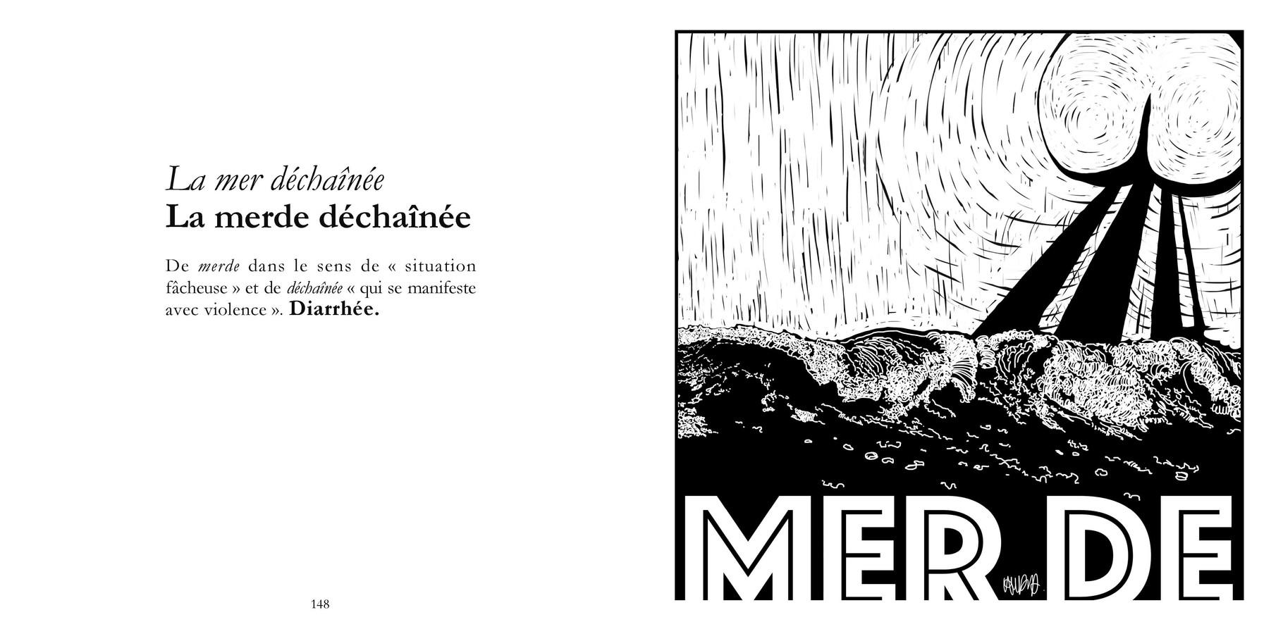 La mer déchaînée - La merde déchaînée / P 148-149 du Bestof2 -Texte Edith - Dessin Miss Gouby. Droits réservés - Reproduction interdite
