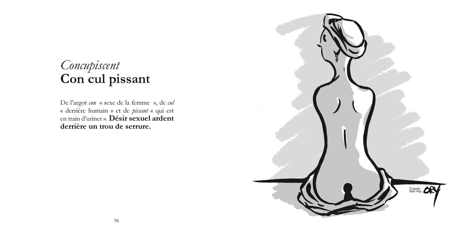 Concupiscent - Con cul pissant /  P96-97 du Bestof 1 / Texte Edith - Dessin Philippe Ory -  Droits réservés   Reproduction interdite