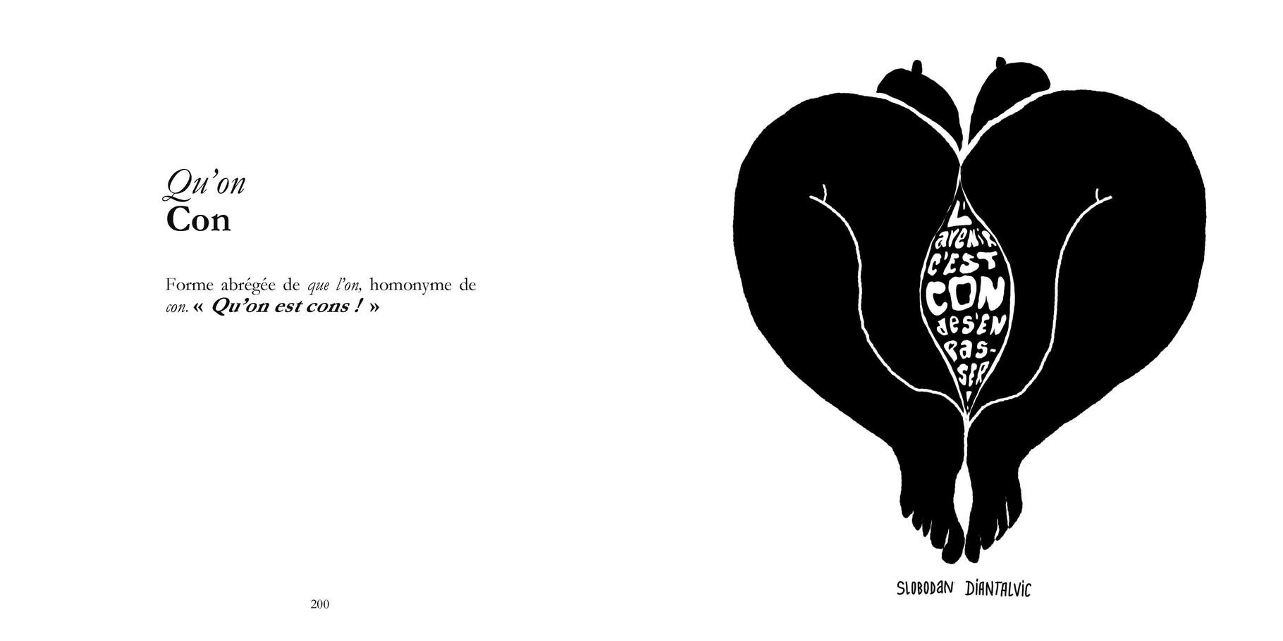Qu'on - Con  / P 200-201 du Bestof2 -Texte Edith - Dessin Slobodan Diantalvic. Droits réservés - Reproduction interdite