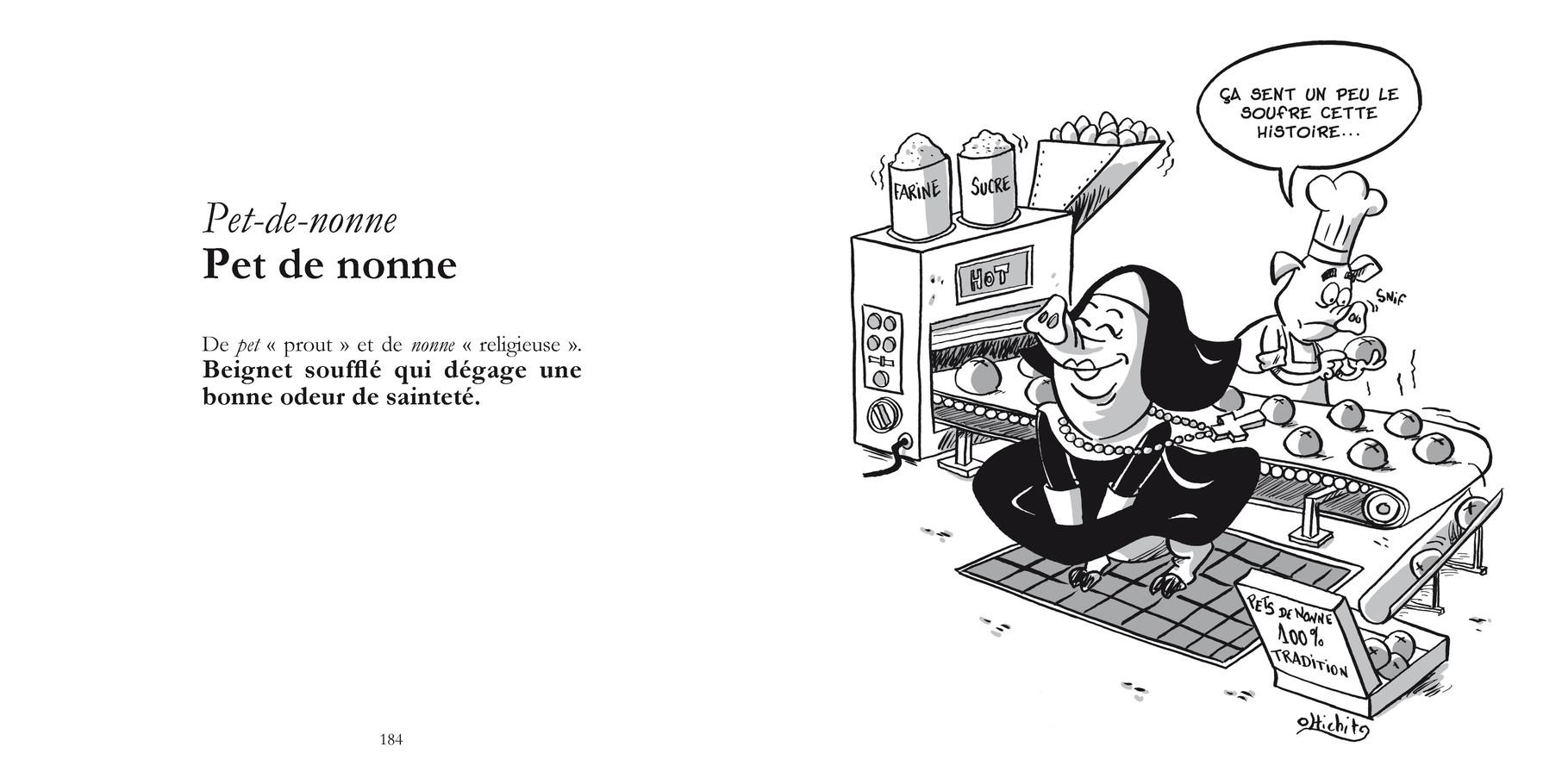 Pet-de-nonne - Pet de nonne /  P184-185 du Bestof 1 / Texte Edith - Dessin Olivier Tichit -  Droits réservés   Reproduction interdite