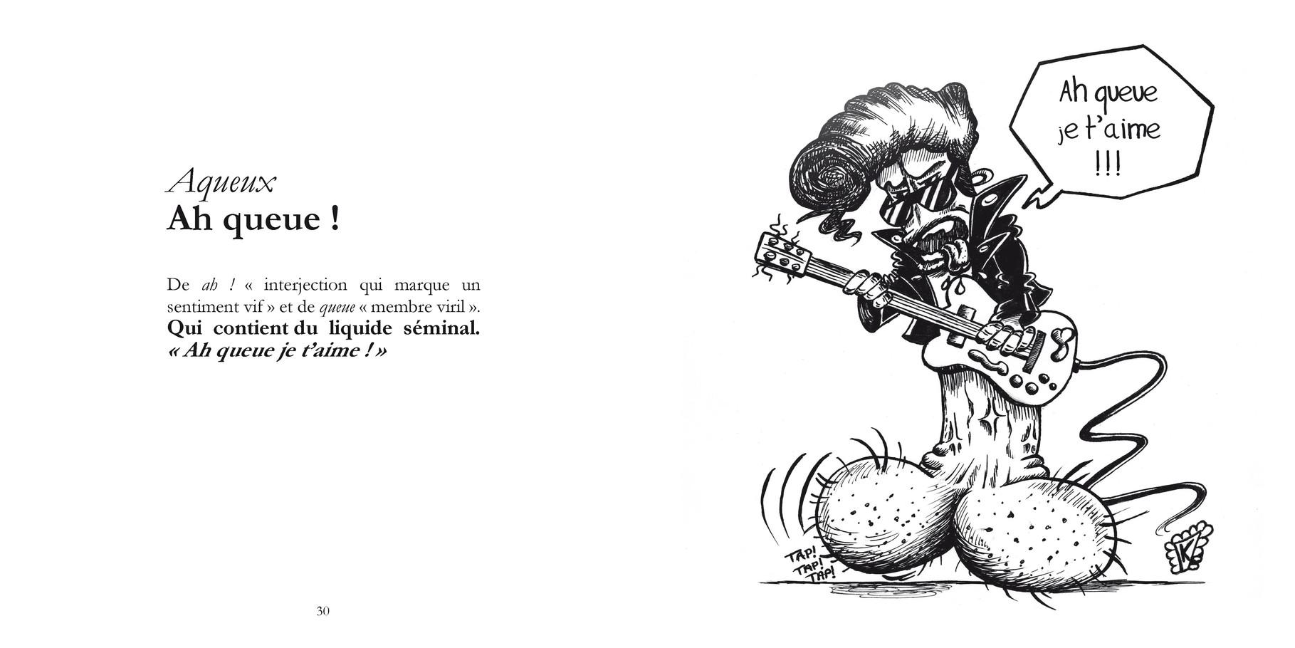 Aqueux - Ah queue ! /  P30-31 du Bestof 1 / Texte Edith - Dessin Kirira / Droits réservés   Reproduction interdite