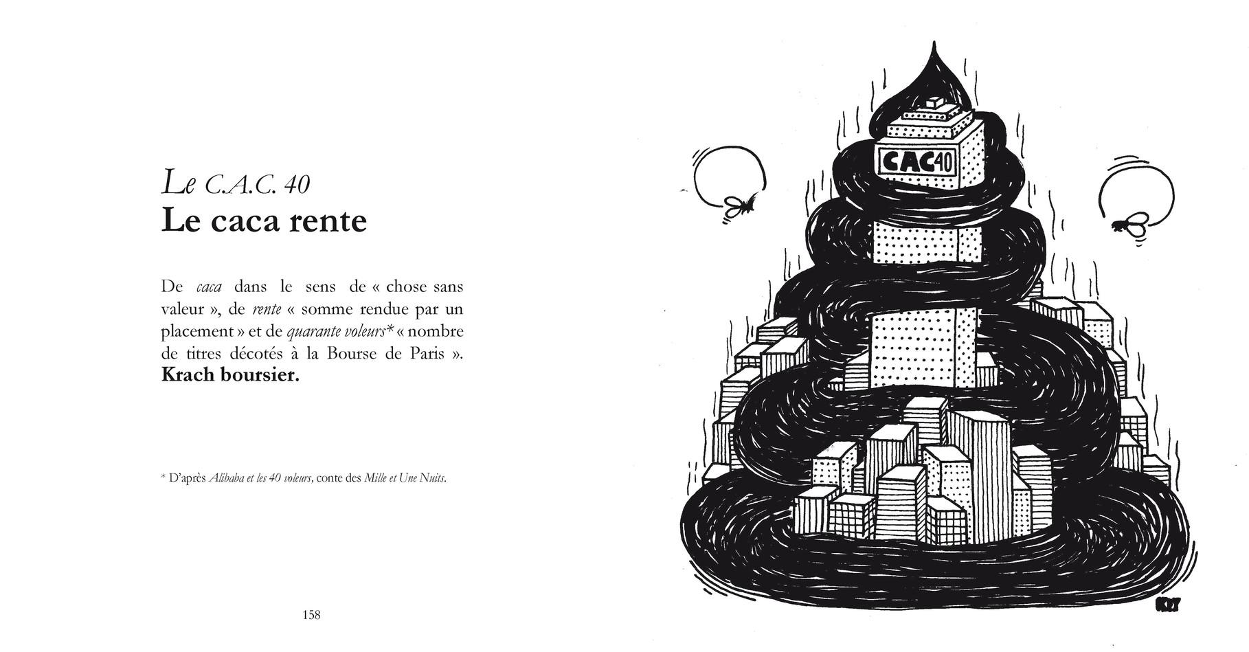 Le C.AC.40 - Le caca rente /  P158-159 du Bestof 1 / Texte Edith - Dessin Okey -  Droits réservés   Reproduction interdite