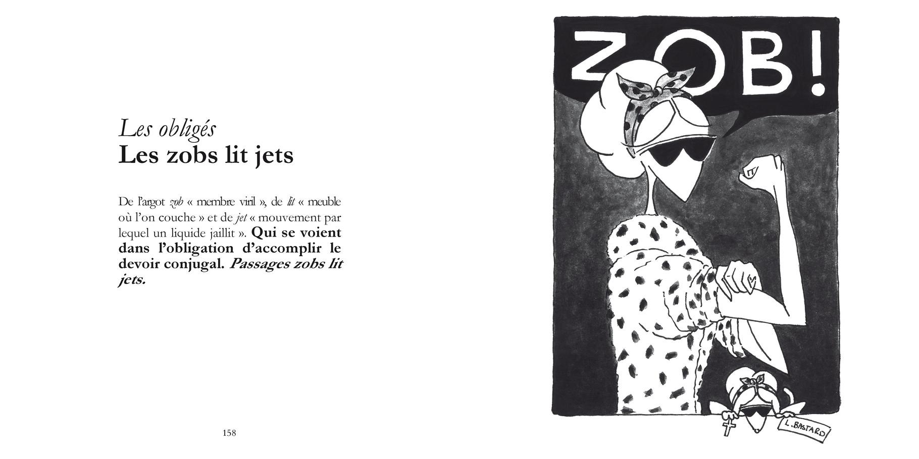 Les obligés - Les obligés / P 158-159 du Bestof2 -Texte Edith - Dessin Laurence Bastard. Droits réservés - Reproduction interdite