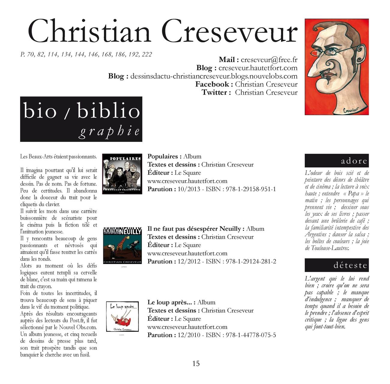 Christian CRESEVEUR - Dessinateur de presse à L'OBS.com