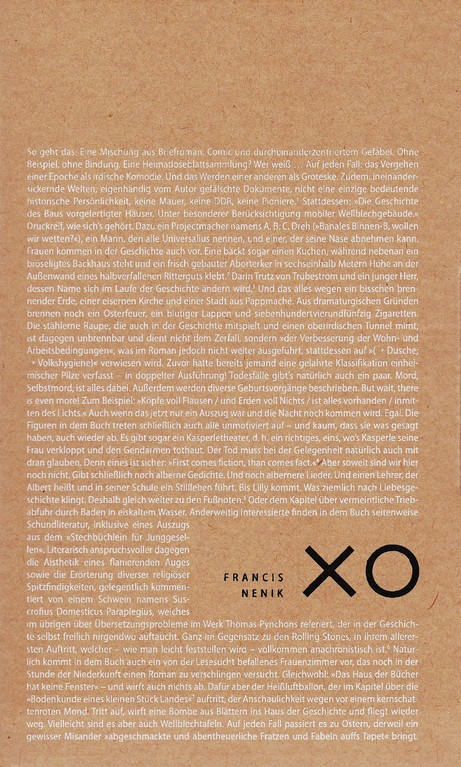 Francis Nenik: XO. Roman