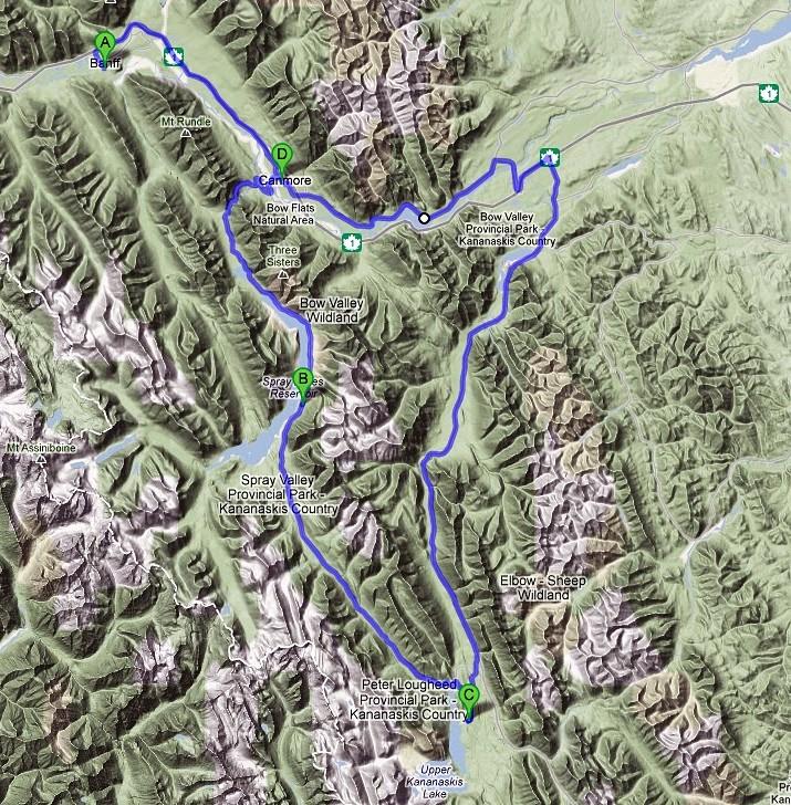 Die Fahrt auf Google Maps