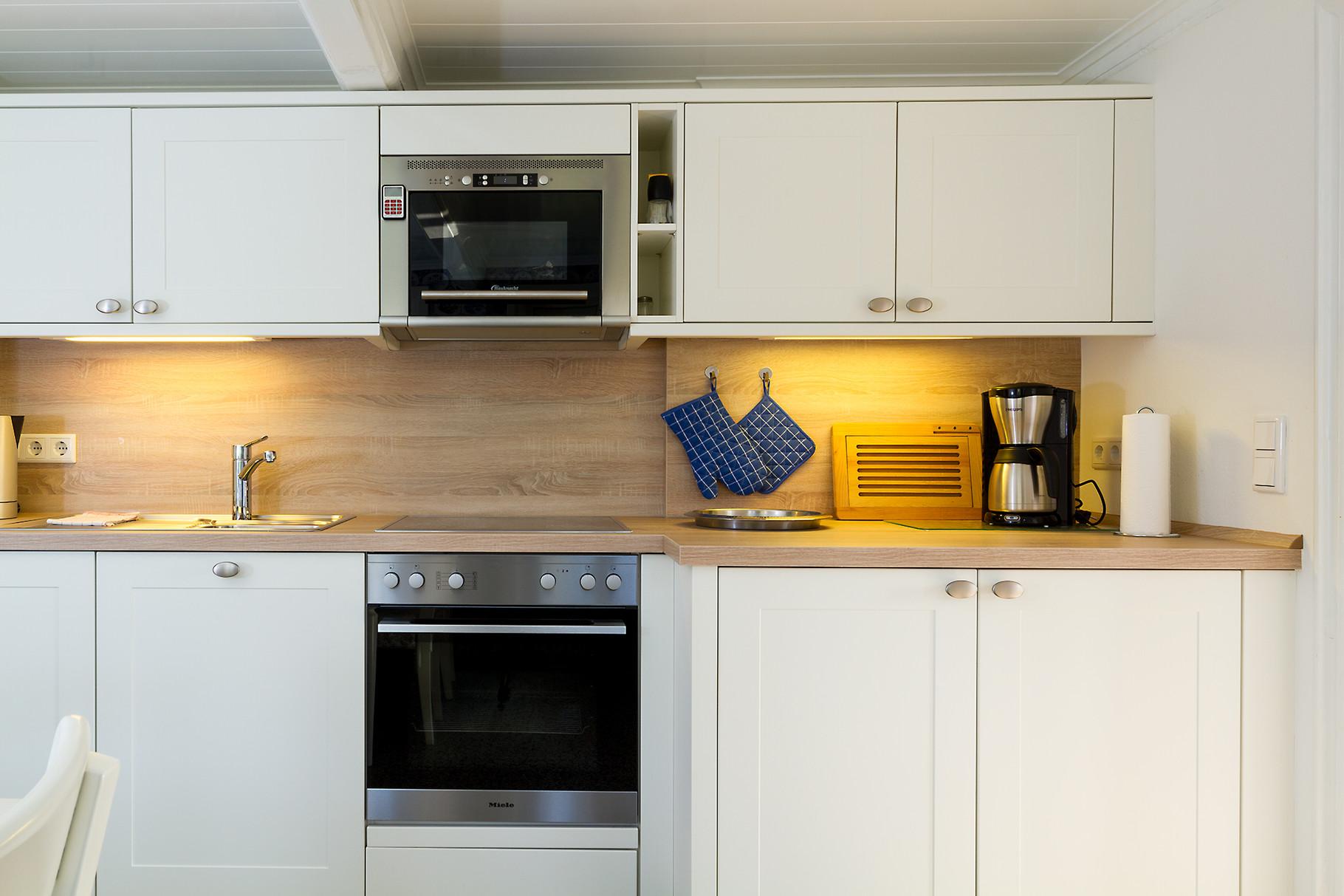 Küche in einer Ferienwohnung.