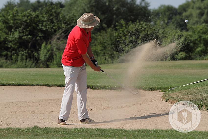 Fotoarbeiten auf einem Golfplatz