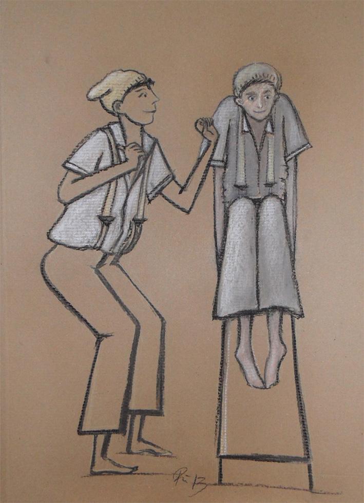 Pinoccio . 2012 . 28x15cm . Zeichnung/Mischtechnik . 149,- €