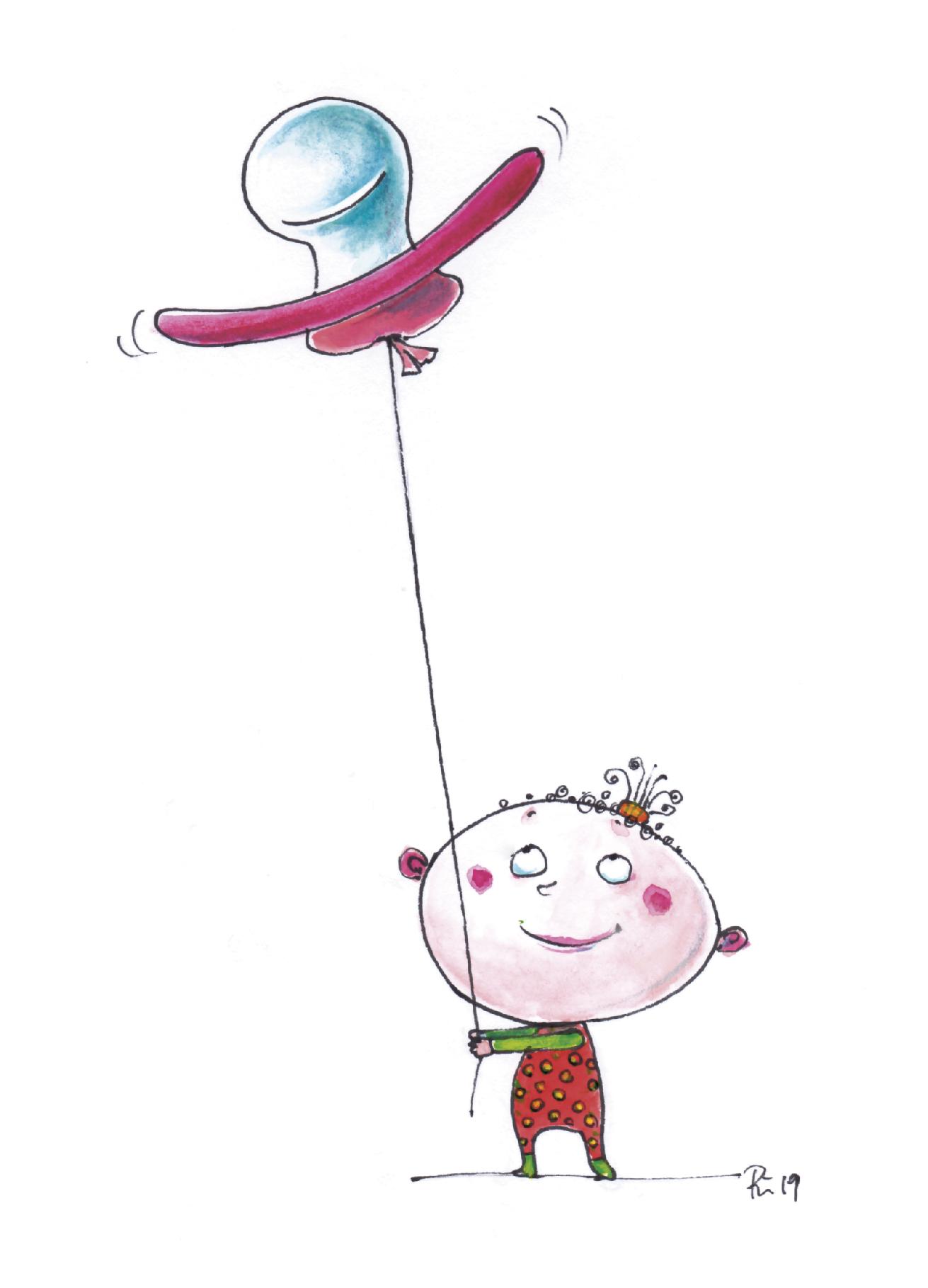 Der Nuckelluftballon - Geburt eines Mädchens