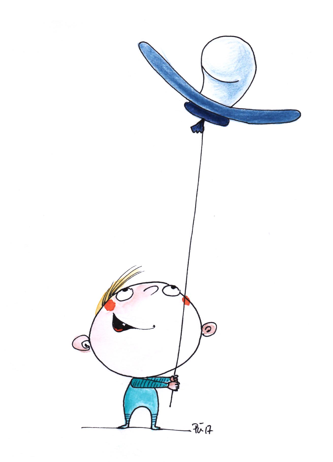 Der Nuckelluftballon - Geburt eines Jungen