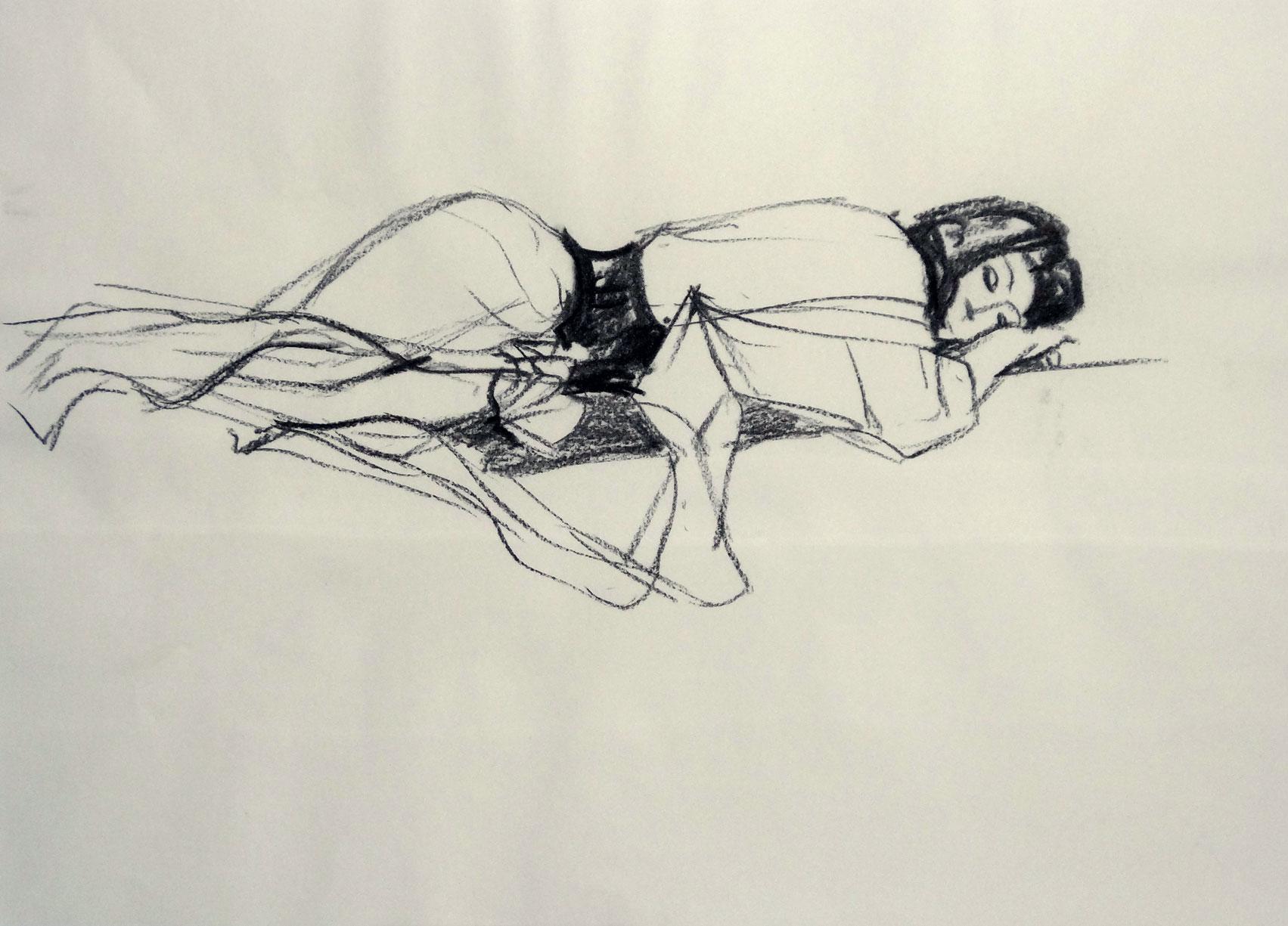 Rarität - Asiatisch I . 2012 . Zeichenkohle auf Papier . 40cmx60cm . 199,-€