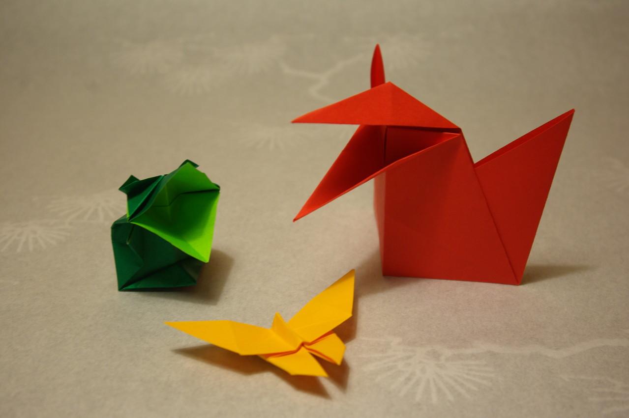 traditionelle Origami-Modelle zum Spielen