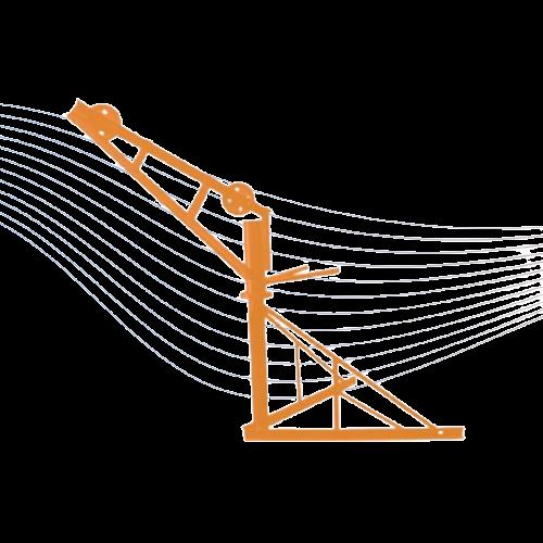 Pluma giratoria para malacate 1 ton