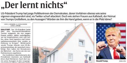 Zeitungsausschnitt aus der RHEINPFALZ vom 19.07.19
