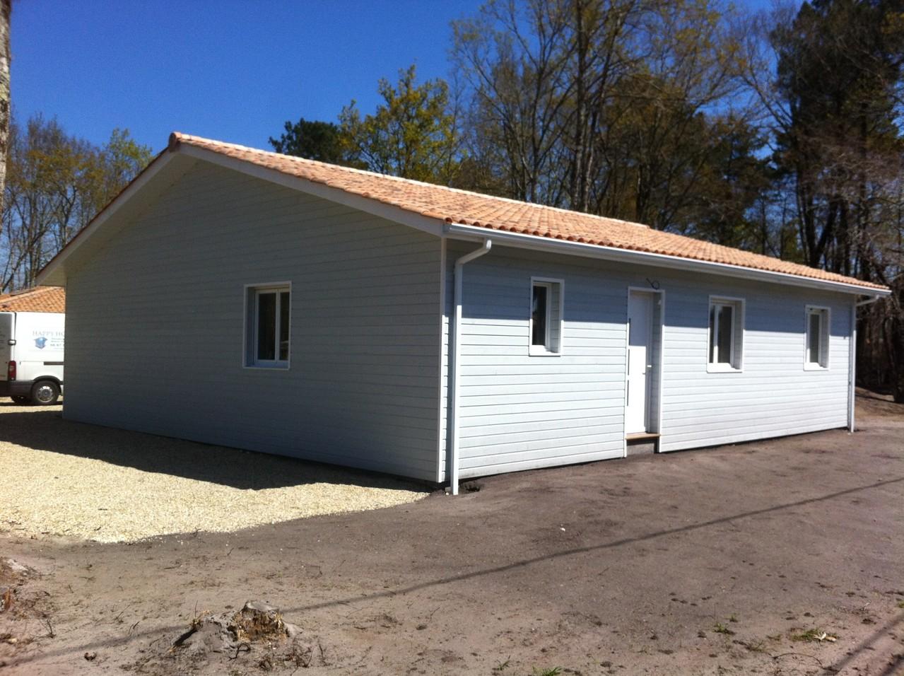 Construction maison bardage couleur