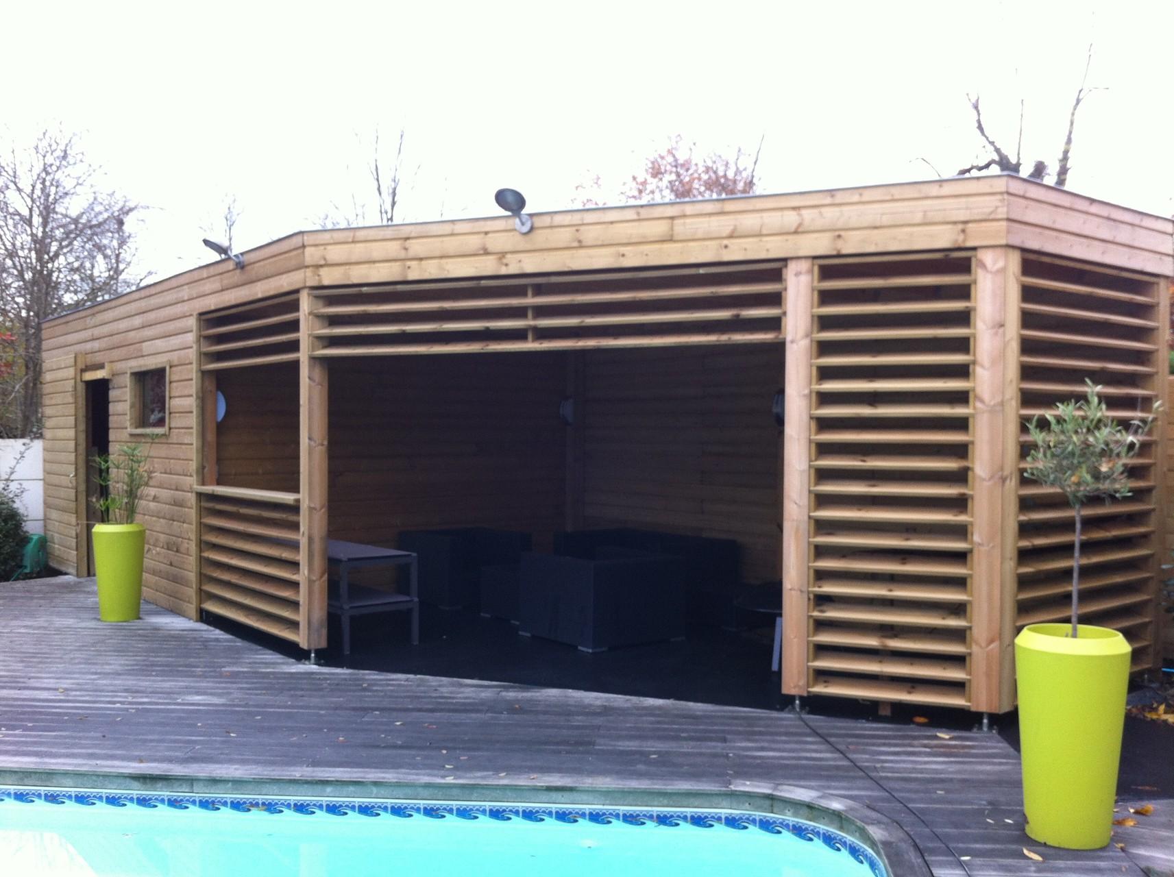Abri de jardin avec cuisine d 39 t cestas happy home 33 construction - Cuisine d ete en bois ...