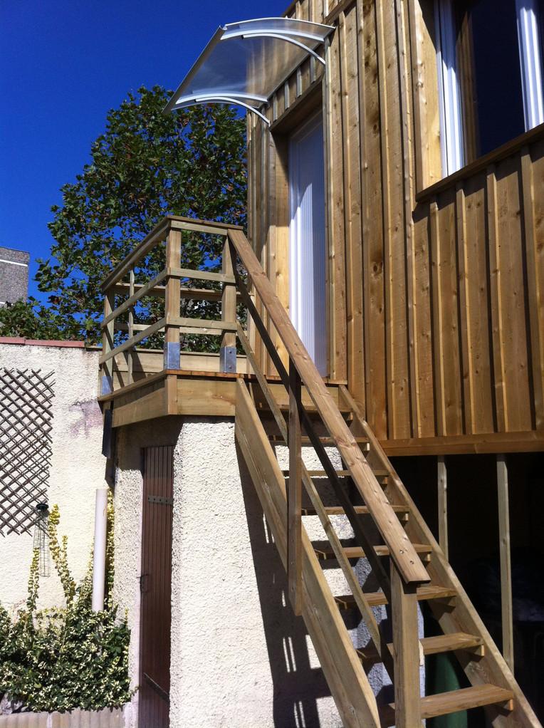 Détail escalier d'accés