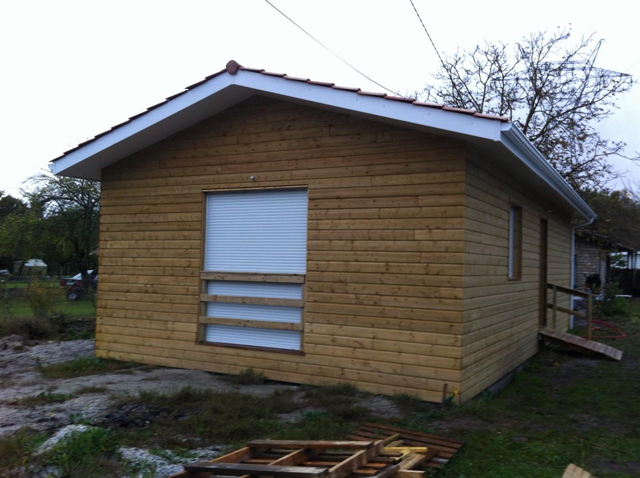 Vue extérieure maison terminée