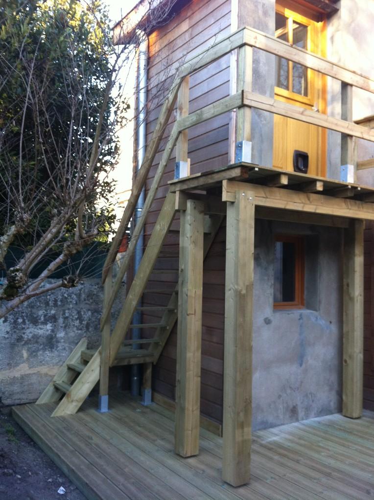Réalisation terrasse, balcon et escalier