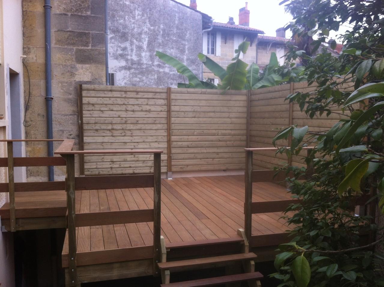 Création d'une terrasse en Ipé