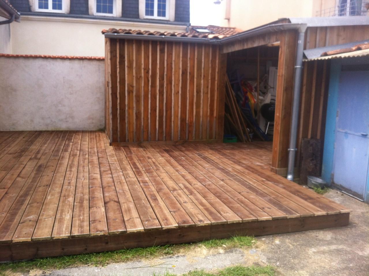 Realisation terrasse et abri de jardin bois